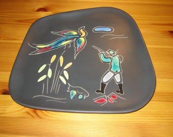 West German Wall Plate - Zell Keramik