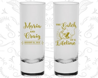 The Catch of a Lifetime Shooters, Printed Shooter Glasses, Fisherman Shooters, Fish and Hook, Fishing Shooters, Custom Shooters (246)