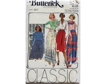 Maxi Skirt, Pattern, Size 26 and a Half,  Butterick 5215, UNCUT, Dirndl Skirt, Classic Gathered Skirt, Two Lengths