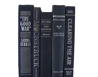 Blue  Decorative Books, Rustic Books Set, Book Decor, Farmhouse Old Book Collection, Fixer Upper, Magnolia Style