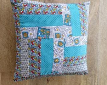 Coussin patchwork 38x38 cm