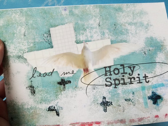 Holy Spirit, Lead me,  note card