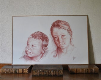 Blood portraits from your family photos.