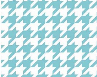 Aqua Medium Houndstooth - Riley Blake Designs - C970-20