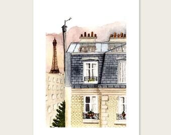 Parisian morning - Art print - 8 X 10'' - 18 X 24 cm