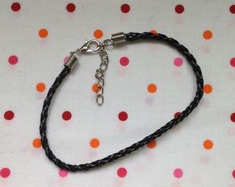 Black leather strap