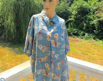 Tori Richard USA Aloha Hawaiian Leisure Resort Wear Shirt XL