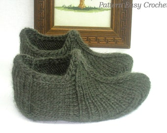 Knitting pattern slippers for home and office