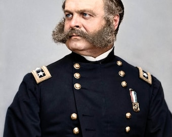 Major General Ambrose Burnside, The commander of the Union Army of the Potomac.