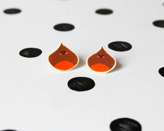 Chestnuts earrings