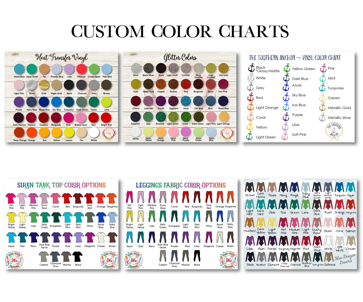 Custom color chart custom size chart vinyl color chart zoom geenschuldenfo Image collections