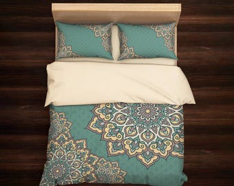 Boho Bedding, Bohemian Bedding, Queen Bedding, Mandala Bedding, King Bedding Set, Mandala Duvet Cover, Indie Bedding, Boho Duvet Cover