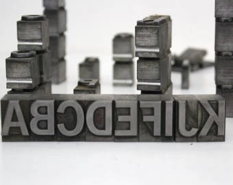 Pick your Letters / Vintage Alphabet Metal Type Letterpress