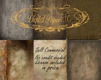 Grunge Digital Background, Grungy Background, Digital Textures, Old Paper  8.5 x 11   P 116 SA