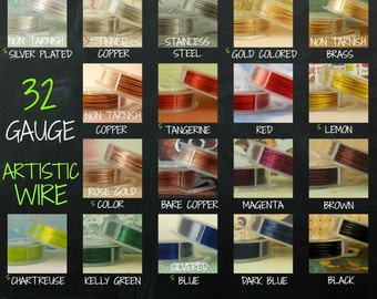 32 gauge  Artistic  Wire -- SO Many Colors - 100 Percent Guarantee