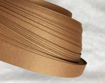 Shimmer Cognac~ Weaving Star Paper (50 strips)
