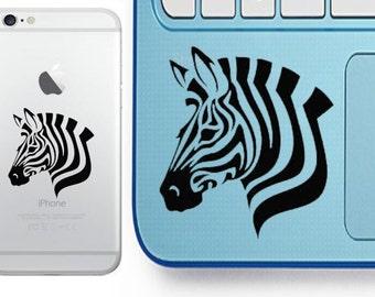 Zebra Decal - Glitter Zebra - Laptop Decal - Cell Phone Decal - Laptop Sticker - Car Decal - Tumbler Decal