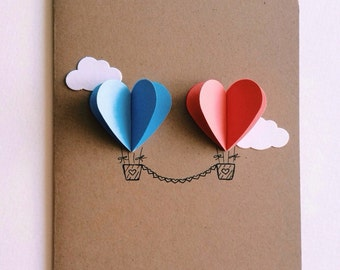 heart air balloons card air balloon cards set of 4 4652