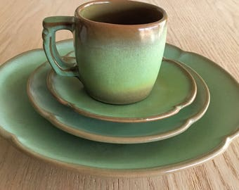 Frankoma Prairie Green dinnerware replacement pieces sold individually