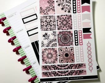 Mandala Glam Mini Happy Planner Kit - Collection - Planner Stickers - Happy Planner