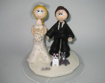 Cat wedding cake topper, cat cake topper