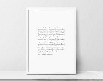 Ps i love you etsy the beatles lyrics wall art ps i love you printable black and white song stopboris Choice Image