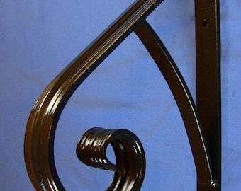 Decorative 1 Step SAFETY Handrail, SOLID STEEL, Railing, Wrought Iron, Metal hand rail, Victorian