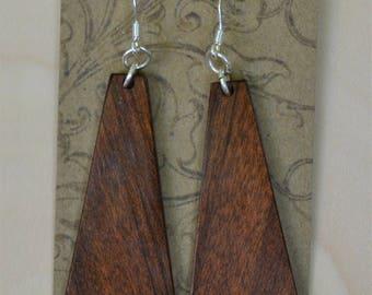 Pau Ferro wood earrings