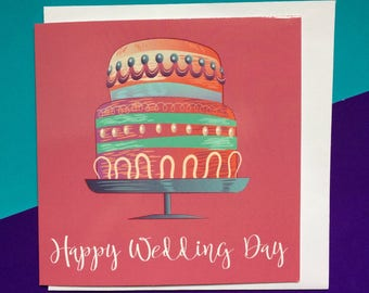 best friend wedding congratulations card, gay wedding cards, happy wedding day card, sisters wedding day card, 13.5cm sq