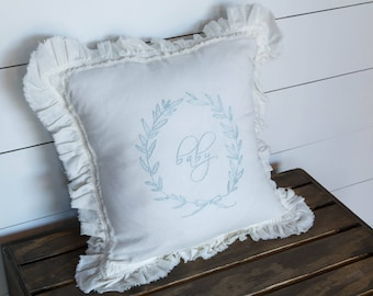 """Embroidered """"baby"""" pillow"""