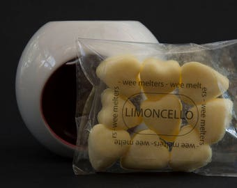 Wee Melters Limoncello scented soy wax melts, scented wax tarts for any electric or tealight burner