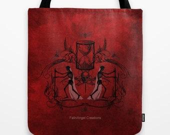 Gothic Tote Bag, Memento Mori, 3 Sizes Available
