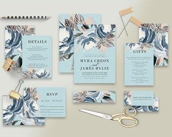 """Printable Wedding Invitation Suite """"Sistine"""" - Printable DIY Invite, Affordable Wedding Invitation"""
