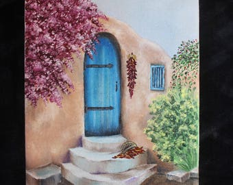Adobe house (oil painting)
