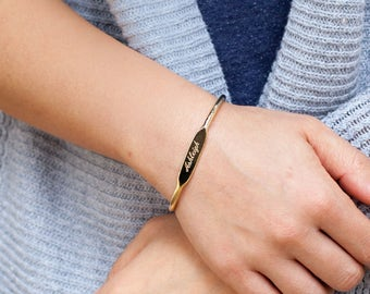 Cuf Bracelet bangle engraving personalized bracelet womens personalized Jewelry Personalized gift for Women