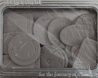 Maya Road - Chipboard - Bookmark Clips