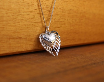 Memorial necklace, Broken heart, Loss of loved one necklace