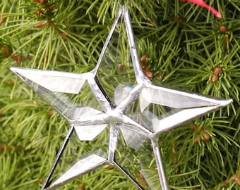 tiny beveled star ornament