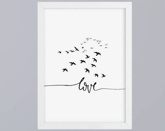 Love - art print, unframed