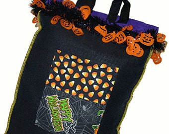 Decorated Trick or Treat Sack, Tote Bag, Gift Bag, Halloween