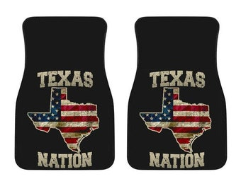Texas/Nation/American Flag/Car/Truck/SUV/Auto/RV/Floors Mats/Gifts/State Flag/Art/Home