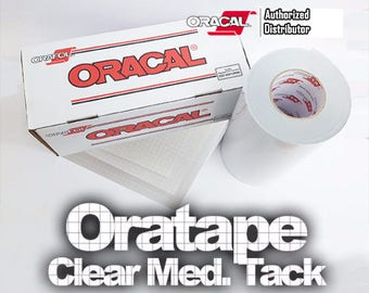 "12""x 5yd Transfer Tape / Oratape Clear Medium Tack **NEW**"