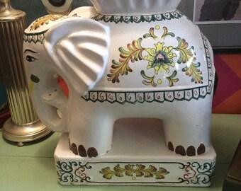 Vintage Ceramic Elephant Garden Seat