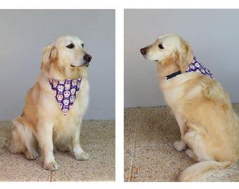 Bandanas chiens avec collier de chien grande taille