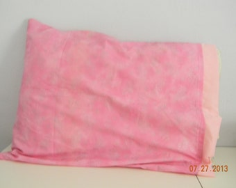 Pillow Case Pink with Glitter Stars