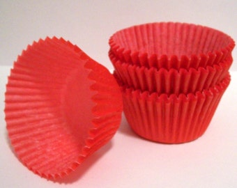 Red Cupcake Liners Standard Size- Choose Set of 50 or 100