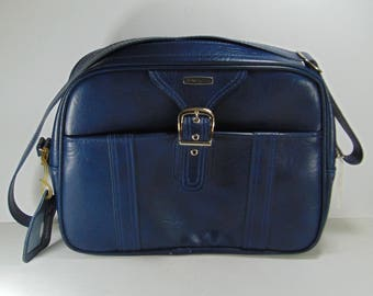 Dark Blue Samsonite Travel Bag, Carry on Bag, Overnight Bag, Weekender Bag, Luggage