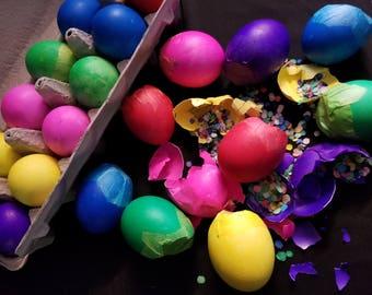 24 Mexican Confetti Eggs Cascarones, Easter, Cinco de Mayo, Mexican Fiesta, Wedding Decoration, Birthday Party, Taco Party, Paper Confetti