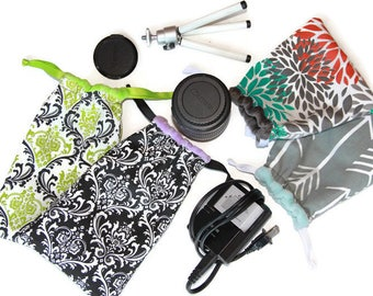 Everything Camera Bag dSLR Camera Lense Point and Shoot GoPro Accessories - Gift for Photographer - Pouch