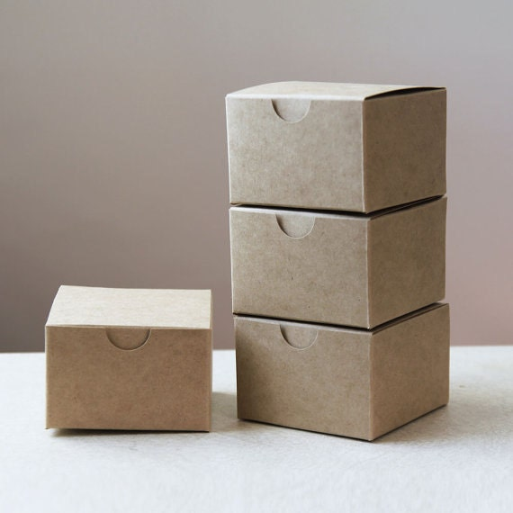 Kraft Natural Gift Box 3x3x2  Lot of 300 ( 3 in x 3 in x 2 in )